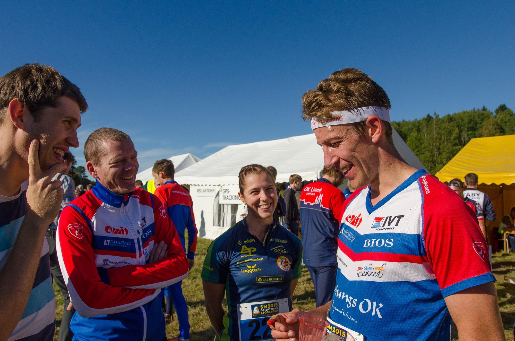 Erik Rost hoppade in som reserv i förstalaget och visade var skåpet ska stå genom att växla först på sträcka 1.