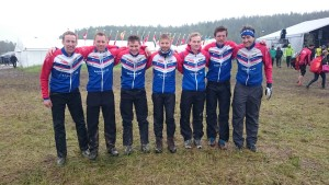 Lag 1, från vänster: Erik Rost, Jakob Lööf, Johan Bäckman, Thomas Carlsson, Anton Östlin, David Andersson & William Lind