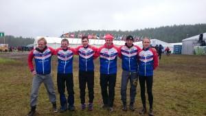 Lag 3 från vänster: Linus Bohman, Mattias Karlsson, Matjaz Stanfel, Stefan Jonsson, Lars Åkerman, Martin Nilsson (Håkan Eriksson saknas)