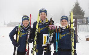 Bild från orientering.se Svenska EM medaljörerna ifrån den inledande sprinten.